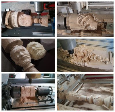 1325 Wood CNC Router with Rotary Working Samples