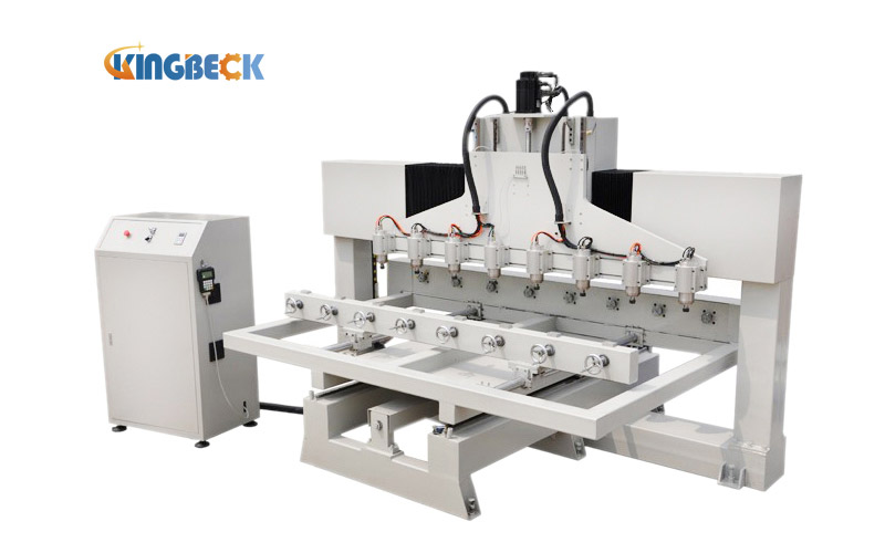 3D Wood CNC Router With Muti Head and Rotary