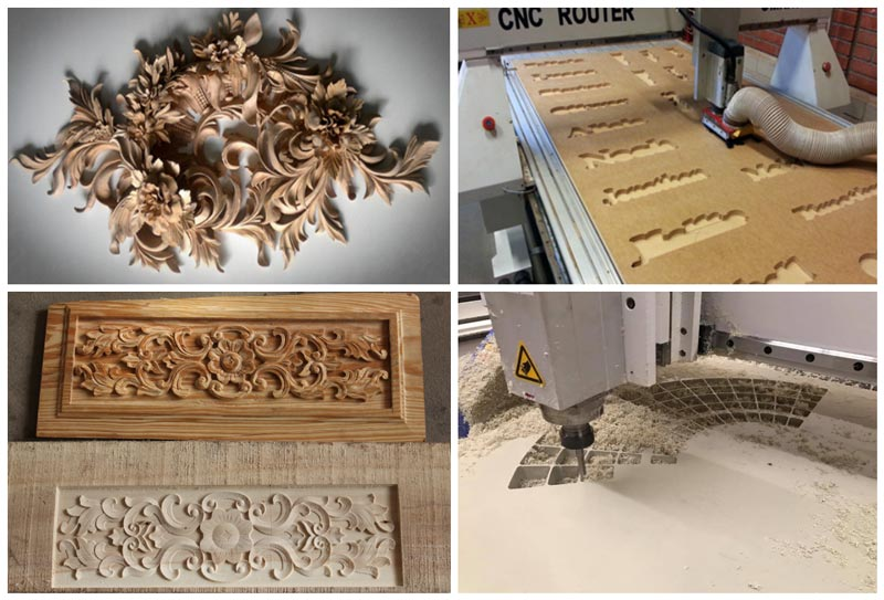 4*8ft 3D Wood CNC Router Working Samples