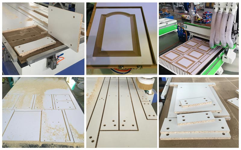 Atc CNC Router With Drilling Unit Working Samples