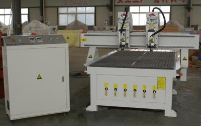 Double Heads Wood CNC Router