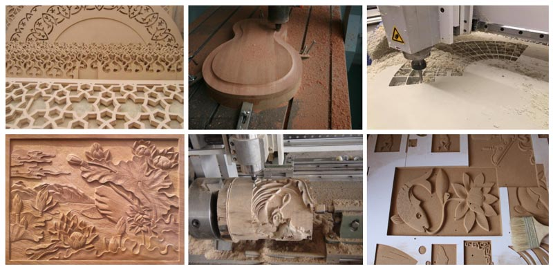 Double Heads Wood CNC Router Working Samples