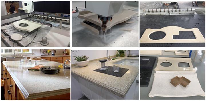 marble granite sink countertop cutting polishing cnc machine
