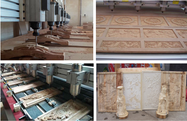 multi heads woodworking cnc router machine
